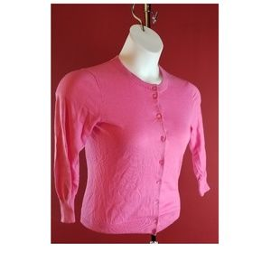 J.Crew Pink Button front Cardigan Size Small